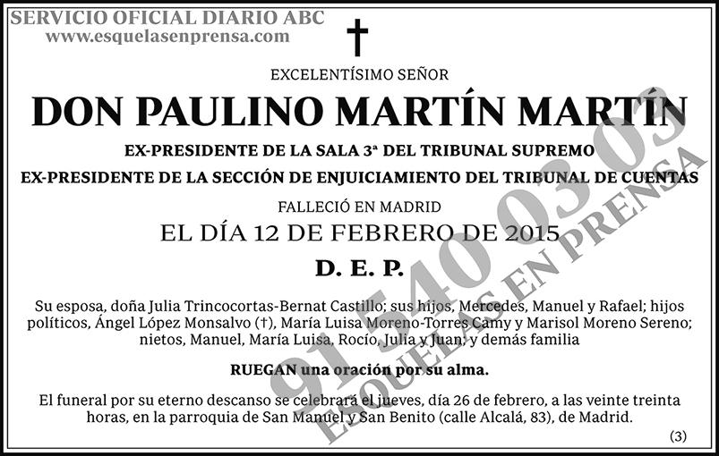 Paulino Martín Martín